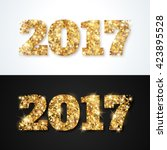 happy new year 2017 greeting... | Shutterstock .eps vector #423895528
