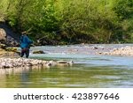 Fishing On The Mountain River....
