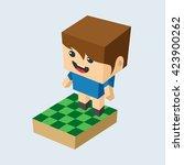 isometric people cartoon | Shutterstock .eps vector #423900262