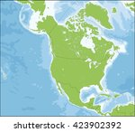 north america map | Shutterstock .eps vector #423902392