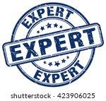 expert. stamp | Shutterstock .eps vector #423906025