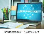 best practice chart with... | Shutterstock . vector #423918475