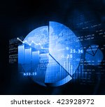 stock market chart. financial...   Shutterstock . vector #423928972