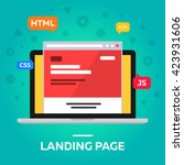 landing page. web site