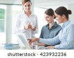 successful women in business ...   Shutterstock . vector #423932236