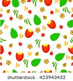 summer background with berries... | Shutterstock .eps vector #423943432