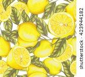 seamless pattern of hand drawn... | Shutterstock . vector #423944182