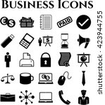 25 businessicon set. quality... | Shutterstock .eps vector #423944755