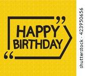 happy birthday illustration... | Shutterstock .eps vector #423950656