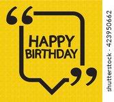 happy birthday illustration... | Shutterstock .eps vector #423950662