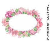 Soft Vector Oval Floral Frame ...