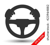 driver icon. flat icon of... | Shutterstock .eps vector #423964882