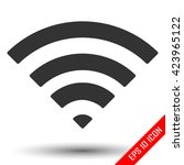 wi fi icon. wifi flat icon. wi... | Shutterstock .eps vector #423965122
