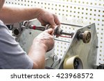 hand winding transformer | Shutterstock . vector #423968572