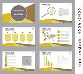 presentation template flat... | Shutterstock .eps vector #423970432