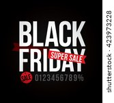 black friday sale. vector...   Shutterstock .eps vector #423973228