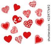 hearts shape vector. set... | Shutterstock .eps vector #423977692