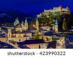 Night View Of Salzburg Old Tow...