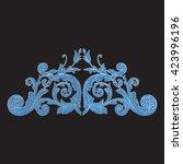 vintage baroque ornament. retro ... | Shutterstock .eps vector #423996196