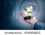 nature and technology... | Shutterstock . vector #424000822