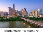 austin  texas  usa downtown... | Shutterstock . vector #424006372