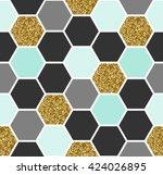 geometric seamless repeating...   Shutterstock .eps vector #424026895