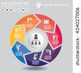 vector circle arrows for... | Shutterstock .eps vector #424027006