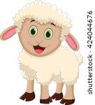 cute sheep cartoon   Shutterstock .eps vector #424044676