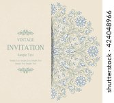 wedding invitation or card with ... | Shutterstock .eps vector #424048966