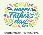 father's day calligraphy ... | Shutterstock .eps vector #424050196