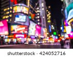 new york city defocused blur of ... | Shutterstock . vector #424052716
