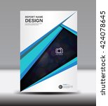 blue annual report brochure... | Shutterstock .eps vector #424078645