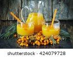 homemade sea buckthorn soft... | Shutterstock . vector #424079728