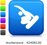 snowboarding icon on square...   Shutterstock .eps vector #42408130
