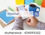 webinar concept | Shutterstock . vector #424093102