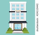 hotel service design  | Shutterstock .eps vector #424113442