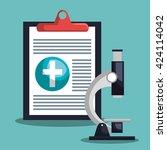 medical healthcare design  | Shutterstock .eps vector #424114042