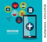 medical healthcare design  | Shutterstock .eps vector #424114528
