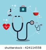 medical healthcare design  | Shutterstock .eps vector #424114558