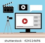 video production video editor... | Shutterstock .eps vector #424114696