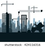 construction machinery design  | Shutterstock .eps vector #424116316