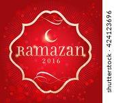 ramadan 2016  turkish  ramazan... | Shutterstock .eps vector #424123696