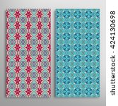 vertical seamless patterns set  ... | Shutterstock .eps vector #424130698
