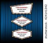 theater cinema sign. vector... | Shutterstock .eps vector #424141342