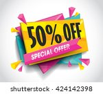 sale layout design with... | Shutterstock .eps vector #424142398