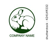 rabbit logo | Shutterstock .eps vector #424149232