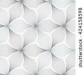 abstract linear petal flower.... | Shutterstock .eps vector #424158598