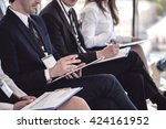business group of people making ... | Shutterstock . vector #424161952