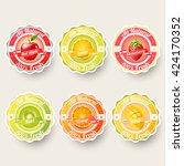 set of orange  lemon ...   Shutterstock .eps vector #424170352