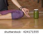 closeup of a woman's hands...   Shutterstock . vector #424171555